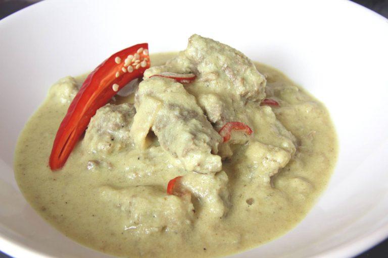Runderstooflap met kokos curry